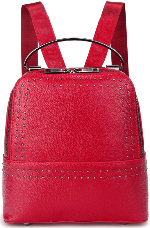 Рюкзак женский OrsOro, цвет: красный. D-449/3