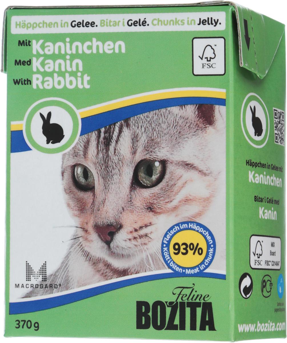 Консервы для кошек Bozita Feline, с кроликом в желе, 370 г4956Консервы Bozita Feline - это полнорационное влажное питание премиум класса для кошек. Содержит 93% свежего шведского мяса, которое никогда не было заморожено. Состав: курица, кролик (7,2% в порции), говядина, свинина, карбонат кальция, дрожжи. Добавки на кг: вит. А 2000МЕ, вит. D3 200МЕ, вит. Е 12 мг, таурин 700 мг, медь 2 мг (сульфат меди-(II), пентагидрат), марганец 1,8 мг (оксид марганца -II и -III), цинк 14 мг (сульфат цинка, моногидрат), йод 0,1 мг (йодат кальция, моногидрат). Содержит все витамины и минералы, в которых нуждается ваш питомец.Анализ: белок 8,5%, жир 4,5%, клетчатка 0,5%, минеральные вещества (сырая зола) 2,3% (кальций 0,35%, фосфор 0,3%, магний 0,02%), влага 83%. Продукт не содержит ГМО. Энергетическая ценность: 290 кДж/100г.Вес: 370 г.Товар сертифицирован.Уважаемые клиенты! Обращаем ваше внимание на то, что упаковка может иметь несколько видов дизайна. Поставка осуществляется в зависимости от наличия на складе.