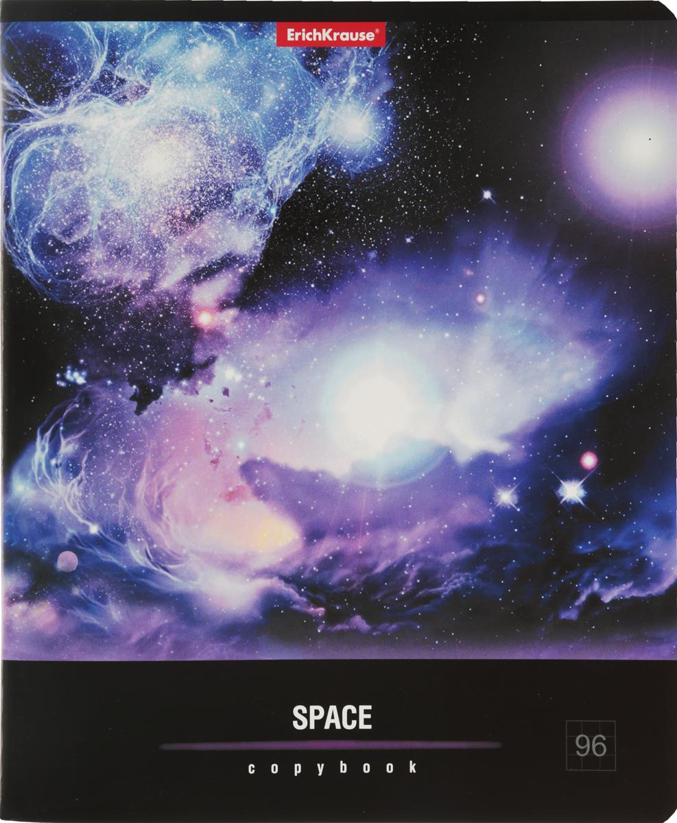 Erich Krause Тетрадь Вселенная 96 листов в клетку цвет фиолетовый35494-фиолетовыйОбщая тетрадь Erich Krause Вселенная пригодится как школьнику, так и студенту.Яркая обложкавыполнена из плотного мелованного картона, позволит сохранить тетрадь в аккуратном состоянии на протяжении всего времени использования.Внутренний блок тетради, соединенный скрепками, состоит из 96 листов белой бумаги в голубую клетку с полями.
