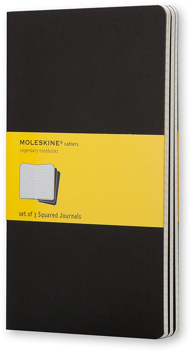 Moleskine Набор записных книжек Cahier Large 40 листов в клетку цвет черный 3 шт le kiosque 1 cahier