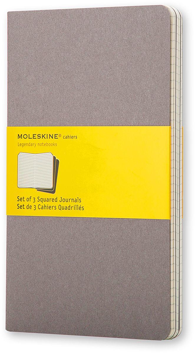 Moleskine Набор записных книжек Cahier Pocket 32 листа в клетку цвет серый 3 шт