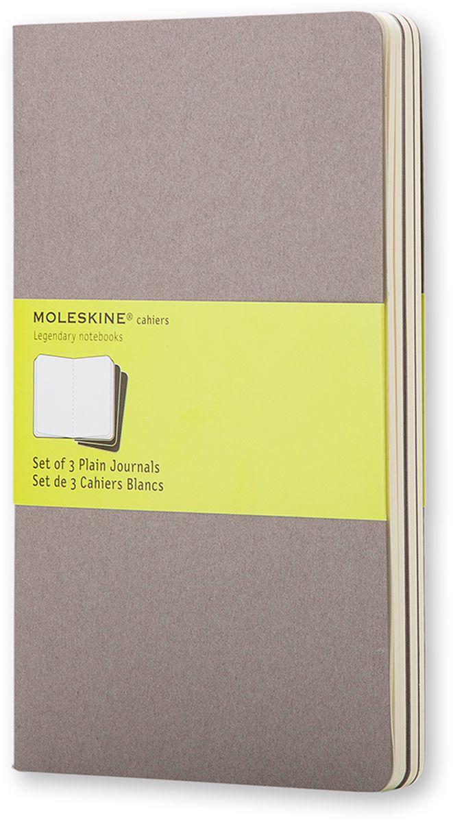 Moleskine Набор записных книжек Cahier Pocket 32 листа без разметки цвет серый 3 штCH313Записные книжки Moleskine Cahier Journal Pocket отличаются гибкой и прочной картонной обложкой и хорошо заметной прошивкой на корешке. Внутренний блок состоит из 32 листов бумаги без разметки, последние 16 листов отделяются. Есть карман для заметок на отдельных листах. В набор из 3 штук вложена открытка с историей Moleskine.