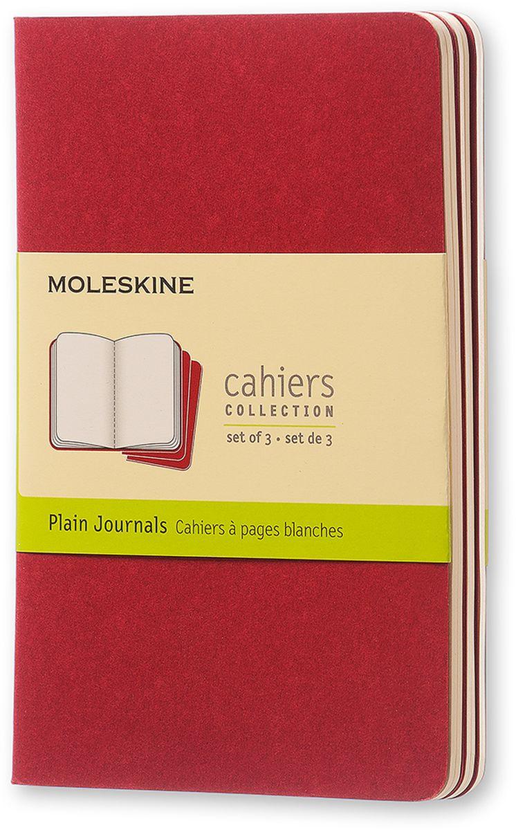 Moleskine Набор записных книжек Cahier Pocket 32 листа без разметки цвет клюквенный 3 шт123489Записные книжки Moleskine Cahier Journal Pocket отличаются гибкой и прочной картонной обложкой и хорошо заметной прошивкой на корешке. Внутренний блок состоит из 32 листов бумаги без разметки, последние 16 листов отделяются. Есть карман для заметок на отдельных листах.В набор из 3 штук вложена открытка с историей Moleskine.