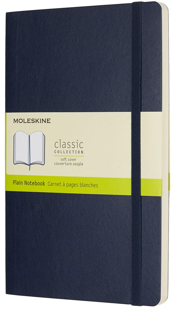 Moleskine Записная книжка Classic Soft Large 96 листов без разметки цвет синийQP618B20Записная книжка Moleskine Classic Soft имеет цветную мягкую обложку со скругленными углами и обладает всеми преимуществами легендарной записной книжки Moleskine. Обложка гибкая и прочная. Плотные бумажные страницы только и ждут того, чтобы вы заполнили их своими идеями. Записная книжка дополнена лентой-закладкой, эластичной застежкой и вместительным внутренним карманом, куда вложена открытка с историей Moleskine.Эта записная книжка бесспорно станет надежным спутником в путешествии и поможет сохранить яркие впечатления, воспоминания и наблюдения.