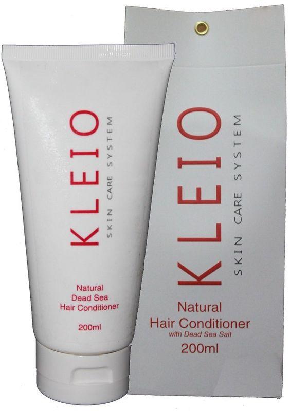 Kleio Натуральный кондиционер для волос Skin Care System Natural Hair Conditioner, 200 млK07100200Кондиционер для волос. Омолаживающий, питающий, освежающий, применяется для всех типов волос, усиленно увлажняет и питает волосы и кожу головы; хорошо восстанавливает структуру волос и оказывает омолаживающее действие; превосходно разглаживает волосы, делает их мягкими, сияющими и послушными весь день, при этом не утяжеляя их; предотвращает появление секущихся кончиков; оказывает терапевтическое и профилактическое воздействие; содержатся натуральные природные соли и минералы Мертвого моря.