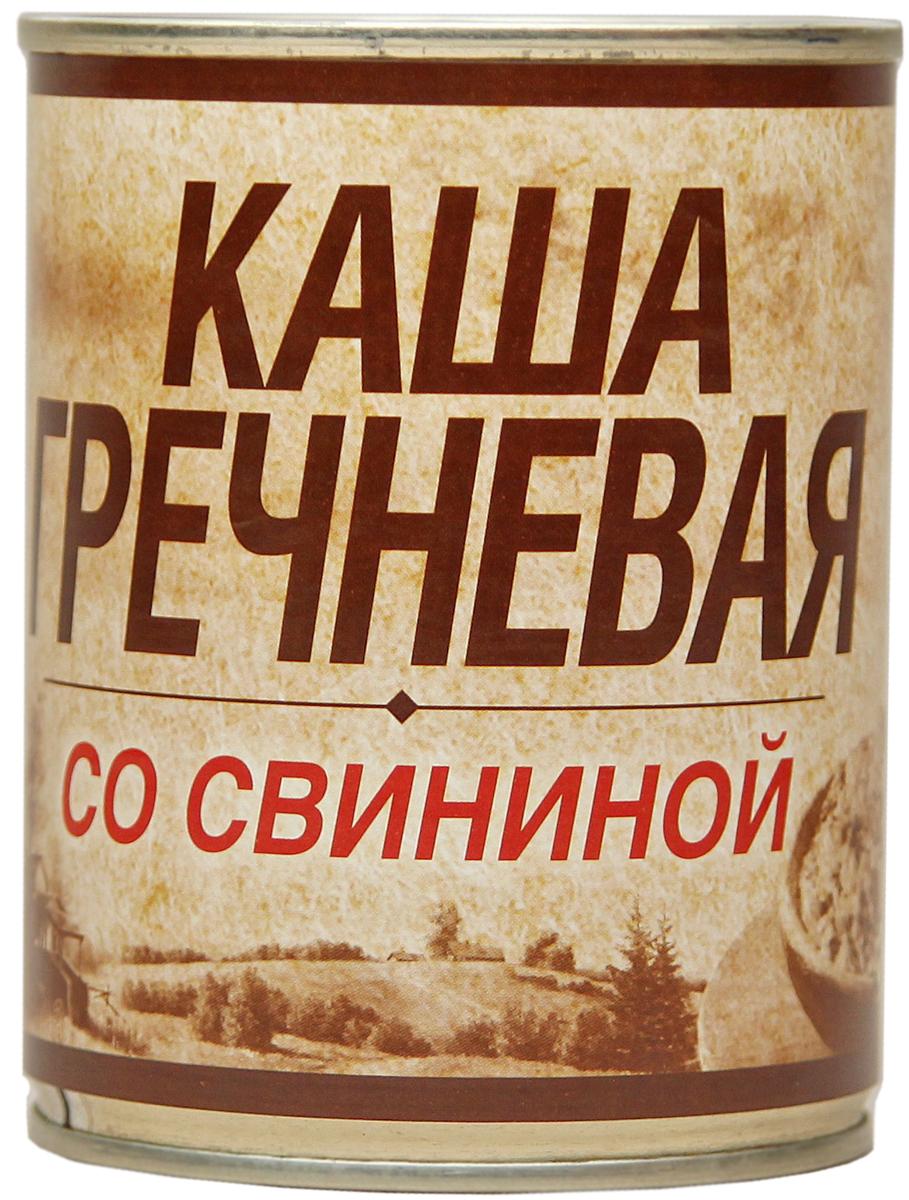 Вотчина Каша гречневая со свининой, 338 г рузком каша рисовая со свининой 325 г