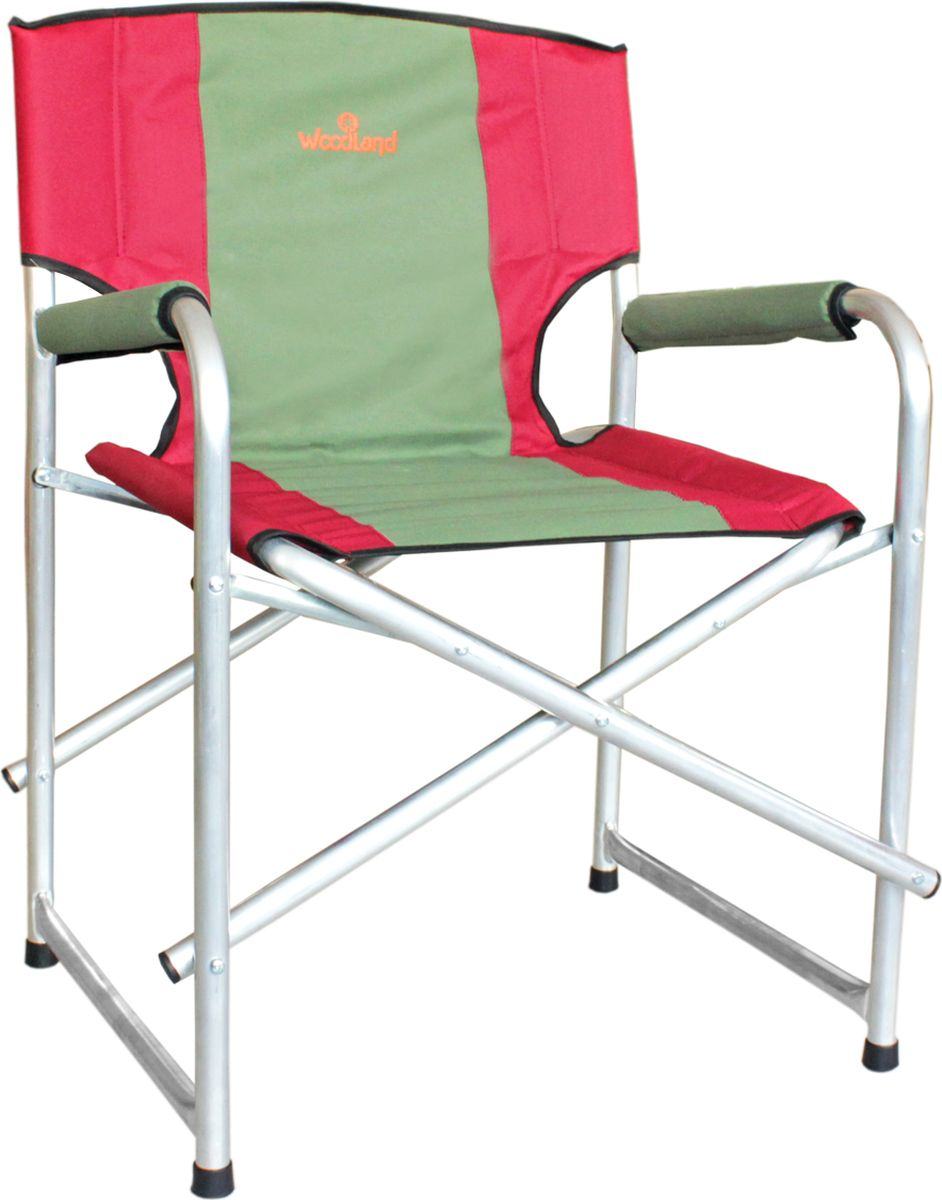 Кресло складное Woodland Super Max, цвет: красный, оливковый, 55 x 62 x 63 см