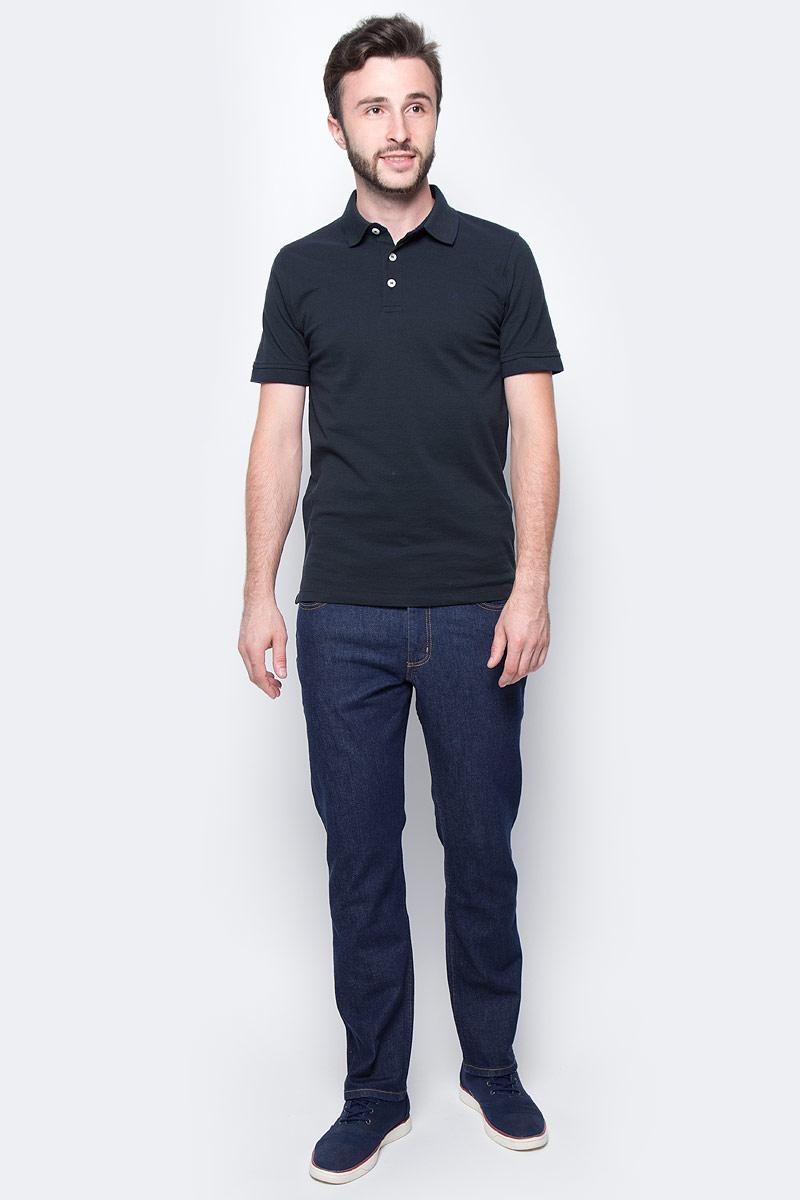 Поло мужское Jack & Jones, цвет: черный. 12091243_Jet Set. Размер S (44) demix поло мужское demix
