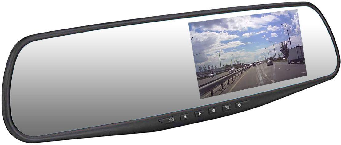 Dunobil Spiegel Solo, Black видеорегистраторDHNELDQВидеорегистратор Dunobil Spiegel Solo придется по вкусу всем любителям нестандартных технических решений. Видеорегистратор Dunobil Spiegel Solo представлен в виде зеркала заднего вида со встроенным экраном-регистратором. Этот аппарат присоединяется к соответствующей панели с помощью специального механизма крепления. Диагональ самого экрана составляет 4,3 дюйма. Такая компактность оптимально подходит для удобства водителя, а также делает видеорегистратор Dunobil Spiegel Solo практически незаметным снаружи оснащенного им автомобиля. На его панели размещены основные механические кнопки.