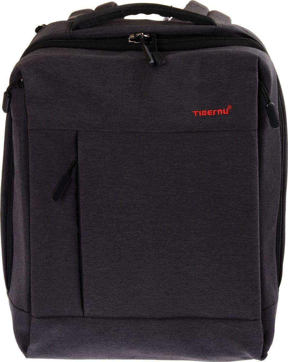Tigernu T-B3269, Black рюкзак для ноутбука 14T-B3269Городской рюкзак Tigernu T-B3269, выполненный в стиле кэжуал, станет оптимальным выбором для молодых людей и девушек. Модная, простая и удобная модель 2017 года рассчитана на хранение и перенос различных вещей, поэтому подходит для студентов, офисных работников, путешественников и всех, кто ведет активный образ жизни.Рюкзак выполнен из прочного материала Оксфорд, который устойчив к промоканию и механическим повреждениям. Модель оснащена дополнительным и основным отделением, а также многочисленными карманами и отсеком для ноутбука, который расположен отдельно. Особую привлекательность Tigernu T-B3269 придает квадратная форма корпуса и логотип, вышитый на фронтальной части.Комфорт использования рюкзака обеспечивают:• широкие, мягкие лямки, которые регулируются по объему;• спинка анатомически правильной формы, выполненная из дышащего материала;• качественная фурнитура, в том числе прочные молнии.Модель оснащена USB-портом, используемым для зарядки телефона. С ее помощью вы всегда будете на связи с друзьями и родными людьми.