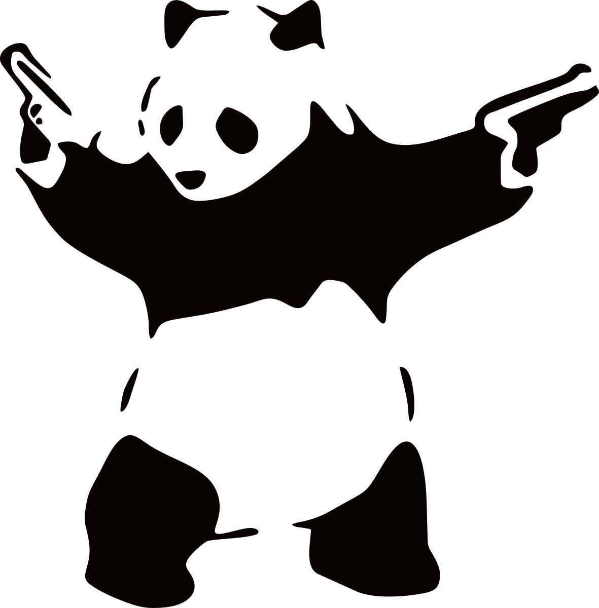 Наклейка автомобильная Оранжевый слоник Гангстапанда, виниловая, цвет: черный наклейка автомобильная оранжевый слоник панда виниловая цвет черный