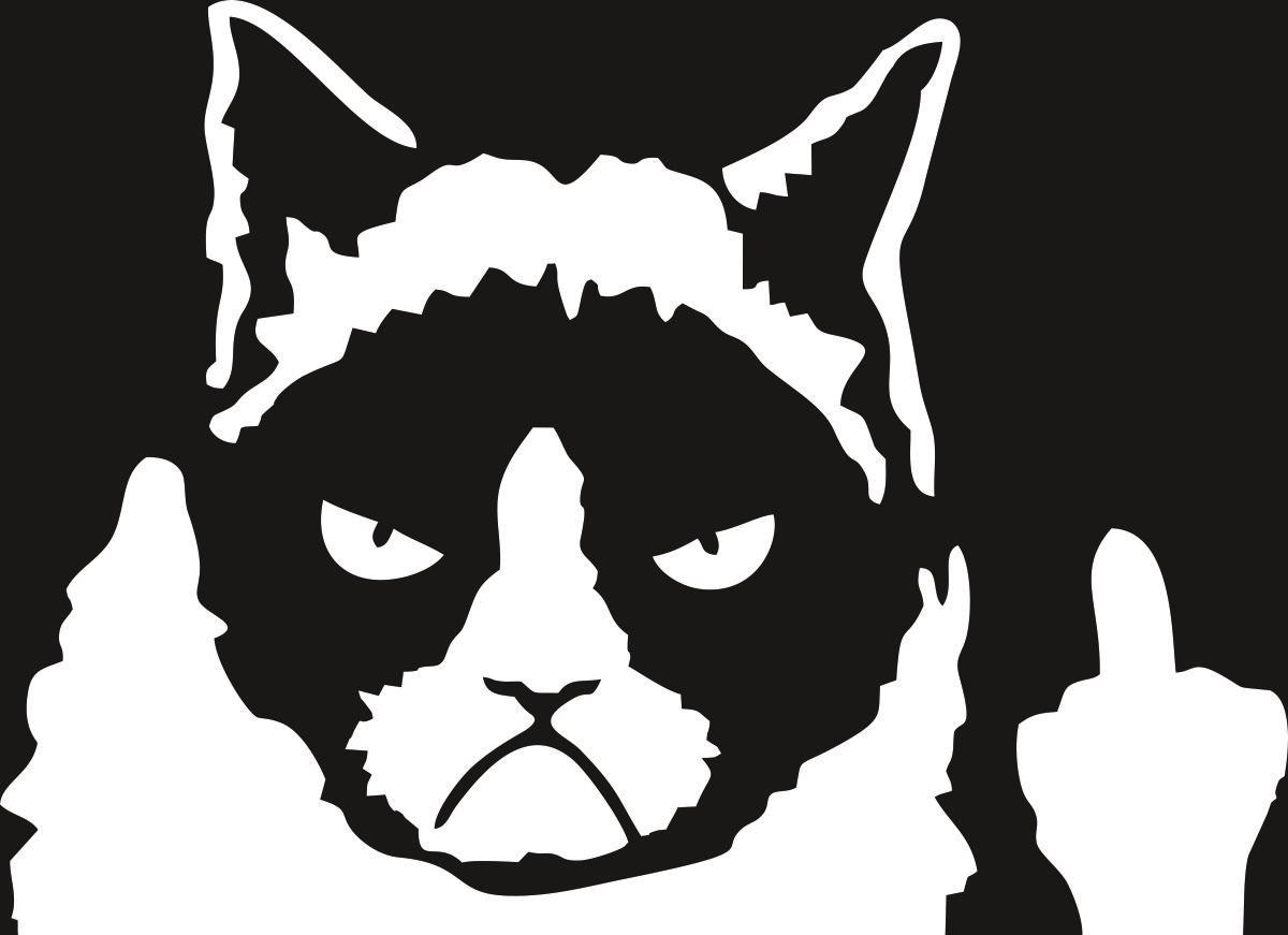 Наклейка автомобильная Оранжевый слоник Злой кот, виниловая, цвет: белый150PR00032WНаклейки изготавливаются из долговечного винила, выполняет декоративную функцию. Клеится на стекло или элемент кузова.