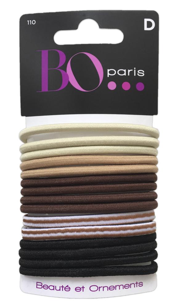 BO Paris Резинки для волос цвет мультиколор 48015001104801500110Резинки для поддержания волос и сохранения прически