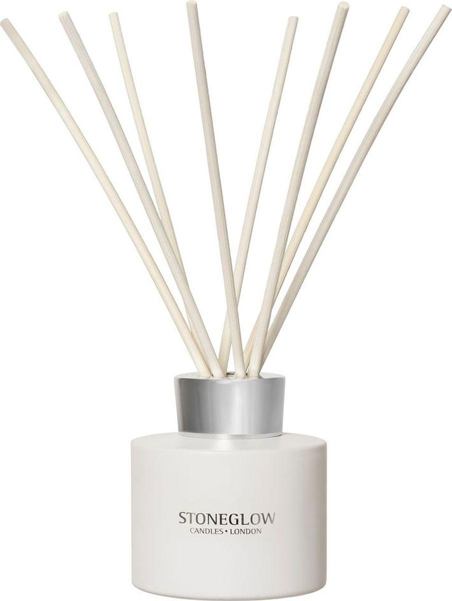 Диффузор ароматический Stoneglow Цветок хлопка, 120 мл2000000049632Ароматический диффузор Stoneglow Цветок хлопка наполнит дом неповторимым ароматом. Цветок хлопка, лепестки розы и лилии в сочетании с белым мускусом и экзотическим сандаловым деревом создают чистый и свежий букет. Диффузор упакован в подарочную коробку, поэтому он станет прекрасным подарком.