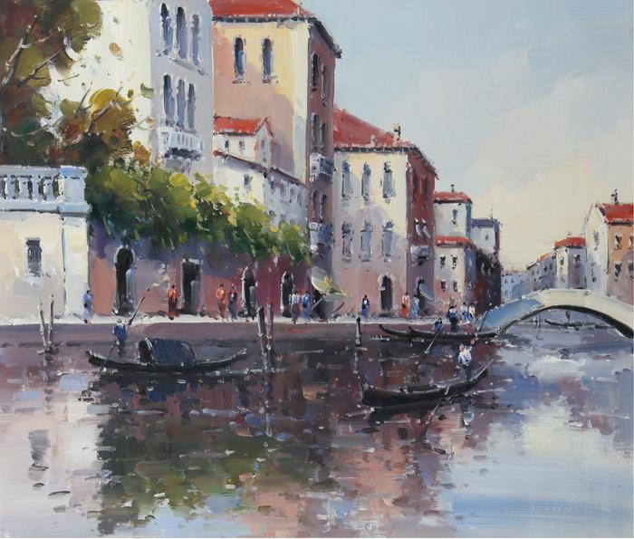 Картина Прогулка по Венеции. Холст, масло. 50х60 см