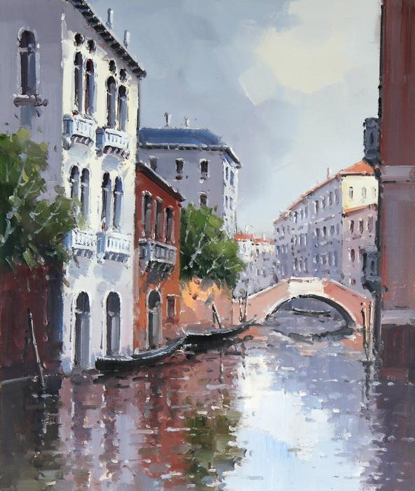 Картина Утро в Венеции. Холст, масло. 50х60 см