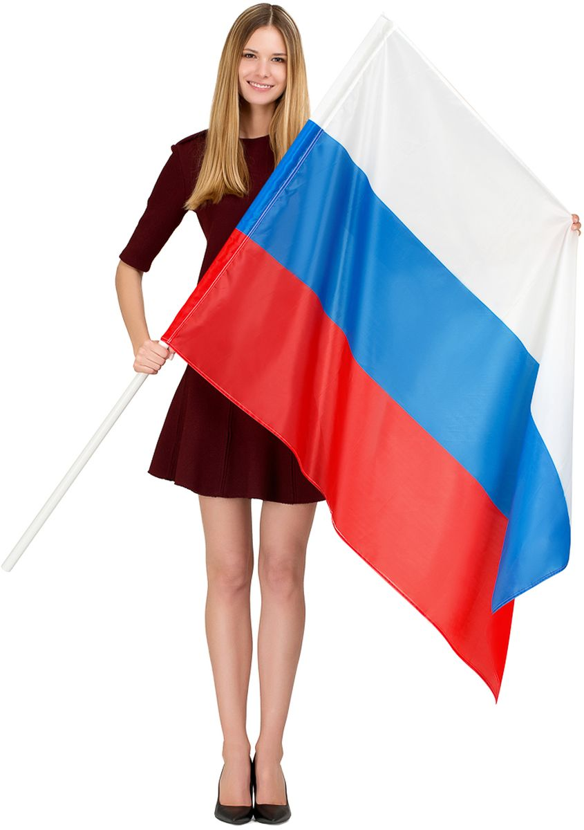 Флаг Ratel Россия, двухсторонний, 90 х 135 см флаги duck and dog флаг россии с кронштейном и древком