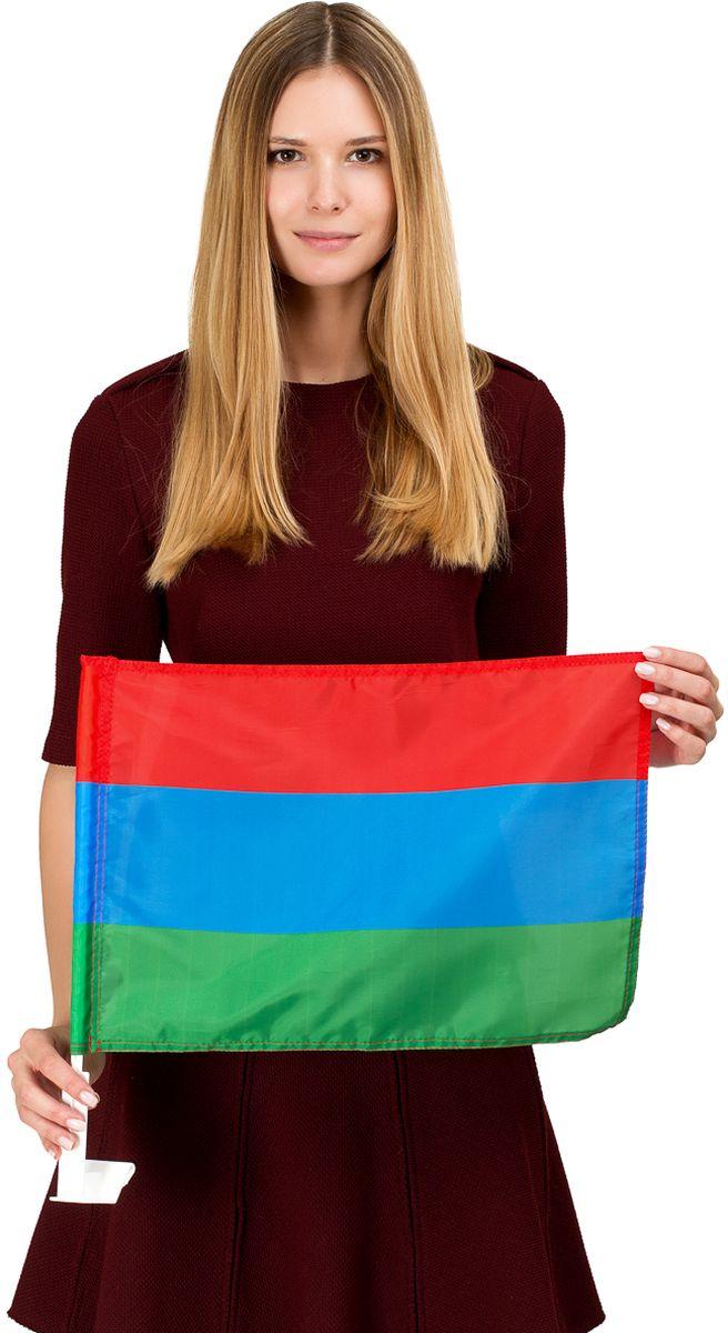 Флаг автомобильный Ratel Республика Дагестан, односторонний, 30 х 40 смG043Автомобильный флаг республики Дагестан выполнен из полиэфирного шелка. Яркая печать с одной стороны. Обязательно приобретение автомобильного флагштока длязакрепленияфлага на автомобиле.