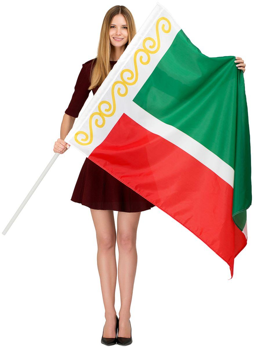 Флаг Ratel  Чеченская республика , двухсторонний, 90 х 135 см - Национальная Атрибутика