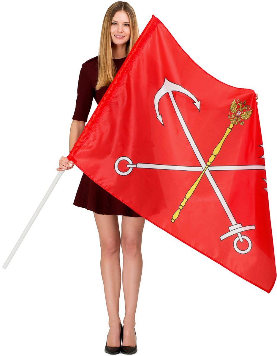 Флаг Ratel Санкт-Петербург, двухсторонний, 90 х 135 см флаг автомобильный ratel пограничные войска россии двухсторонний 30 х 40 см