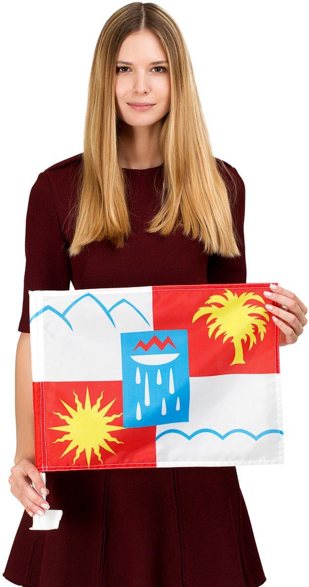 Автомобильный флаг Сочи. Размер полотна:  30 см. х 40 см., яркая двухсторонняя печать. Обязательно приобретение атомобильного флагштока для  закрепления  флага на автомобиле. Производство - Россия, Москва.