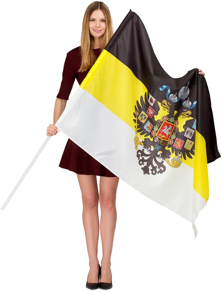 Флаг Ratel  Российская Империя с гербом , односторонний, 90 х 135 см - Национальная Атрибутика