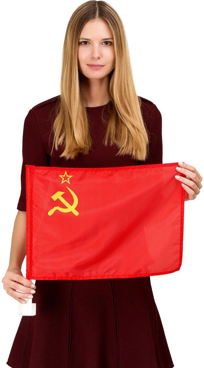Флаг автомобильный Ratel СССР, 30 х 40 смG131Автомобильный флаг СССР. Размер полотна:30 см. х 40 см., яркая печать. Обязательно приобретение автомобильного флагштока длязакрепленияфлага на автомобиле. Производство - Россия, Москва.