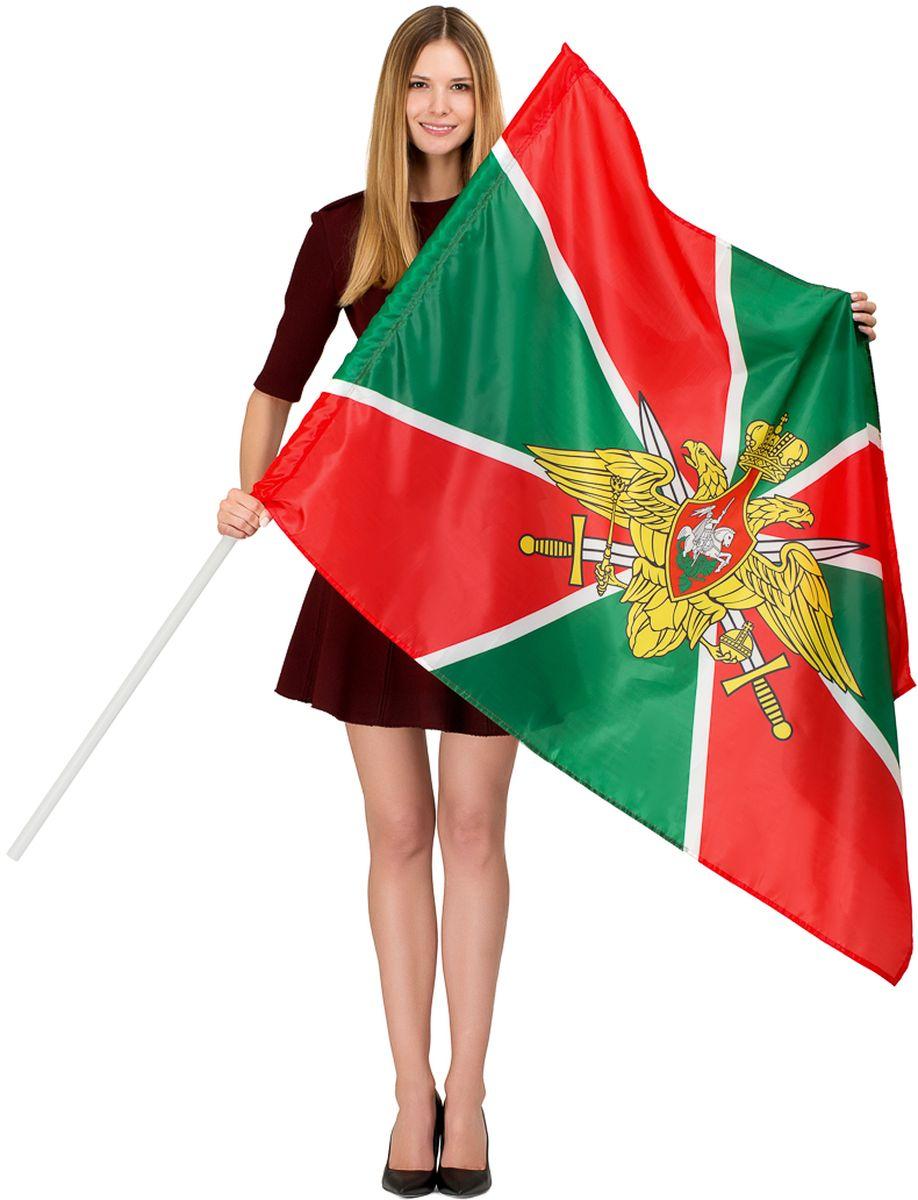 Флаг Ratel Пограничные войска России, двухсторонний, 90 х 135 см флаги duck and dog флаг россии с кронштейном и древком