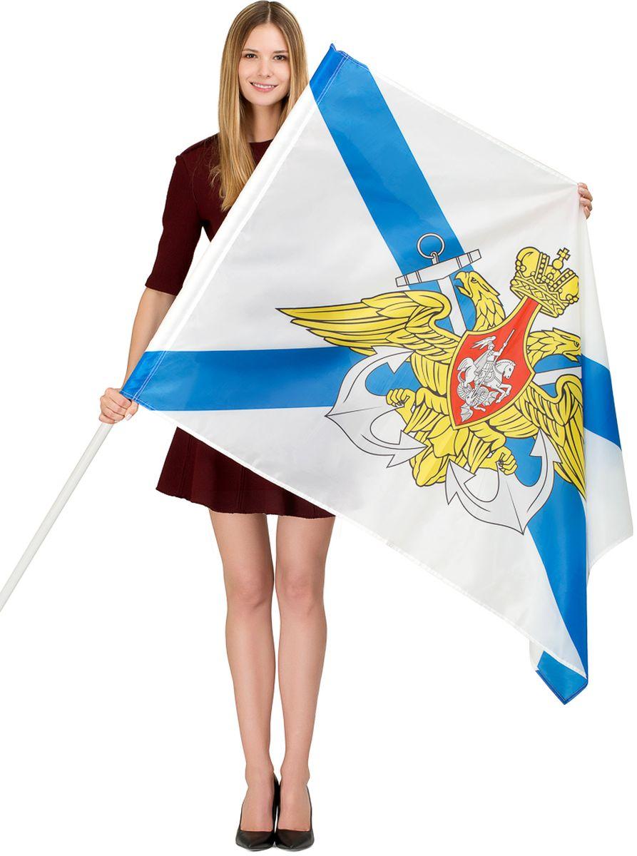 Флаг Ratel ВМФ России, двухсторонний, 90 х 135 см флаги duck and dog флаг россии с кронштейном и древком
