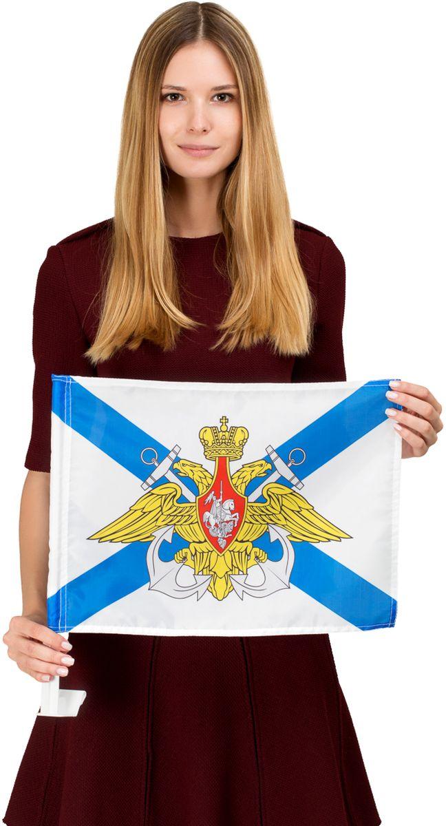 Флаг автомобильный Ratel ВМФ России, односторонний, 30 х 40 см флаг автомобильный ratel пограничные войска россии двухсторонний 30 х 40 см