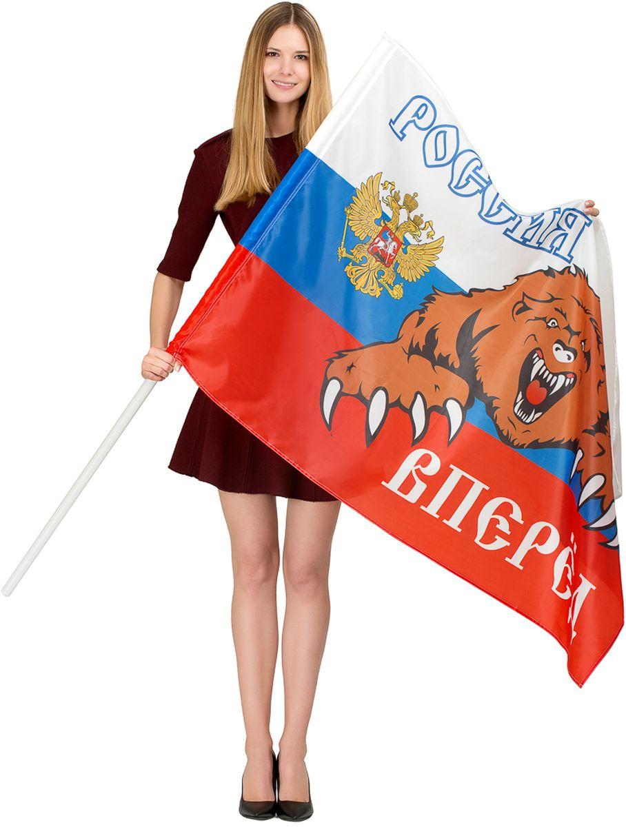 Флаг Ratel  Россия вперед! , двухсторонний, 90 х 135 см - Национальная Атрибутика