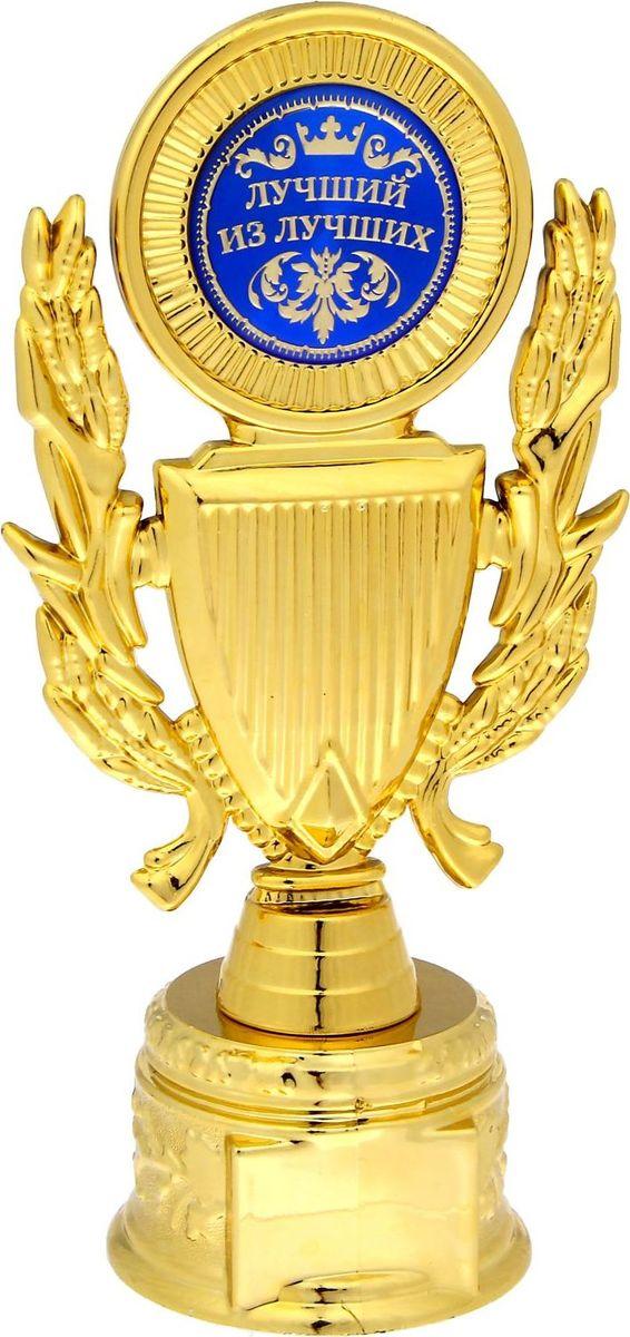 Кубок сувенирный Лучший из лучших. 11523451152345Кубок Лучший из лучших — неповторимый подарок для каждого получателя! Это настоящая почётная награда: лавры, щит и яркая бляшка со званием! Прозрачная пластиковая коробка с тиснением прекрасно дополняет и украшает кубок, благодаря ей вы сможете рассмотреть кубок со всех сторон.