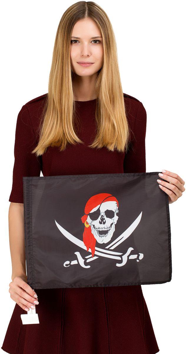 "Флаг автомобильный Ratel ""Пиратский"", двухсторонний, 30 х 40 см"