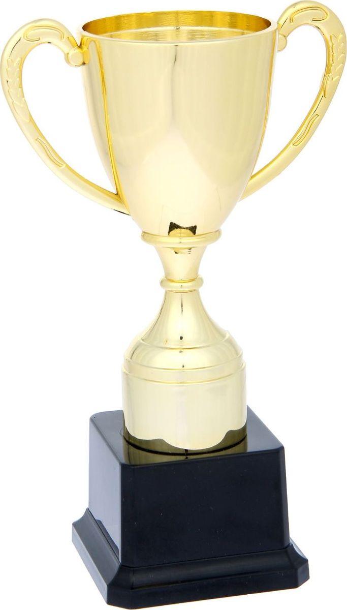 Кубок сувенирный Спортивный. 11931961193196Сувенирный кубок Спортивный на черной подставке выполнен из пластика. Изделиепреподносится в подарочной коробочке. Кубок будет отличным подарком за спортивные заслуги.Высота кубка: 20,5 см. Ширина кубка: 12,5 см.Диаметр чаши: 7,8 см.Размер подставки: 8 х 8 х 5 см.Место под шильд на подставке: 5 х 3,5 см.