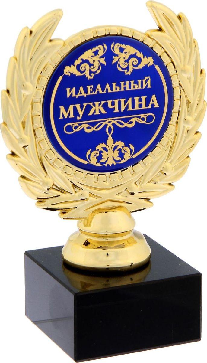 Кубок сувенирный Идеальный мужчина. 12000861200086Заслуженная награда! Как же приятно, когда твои заслуги оценивают и признают! непременно порадует получателя и станет отличным напоминанием о проведённом вместе времени. Награда, выполненная в виде медали, обрамлённой лавровой ветвью, расположена на подставке. Цветная вставка изготовлена из металла, залитого полимерной смолой, что предотвращает её потускнение. Сувенир упакован в картонную коробочку с прозрачным окном.