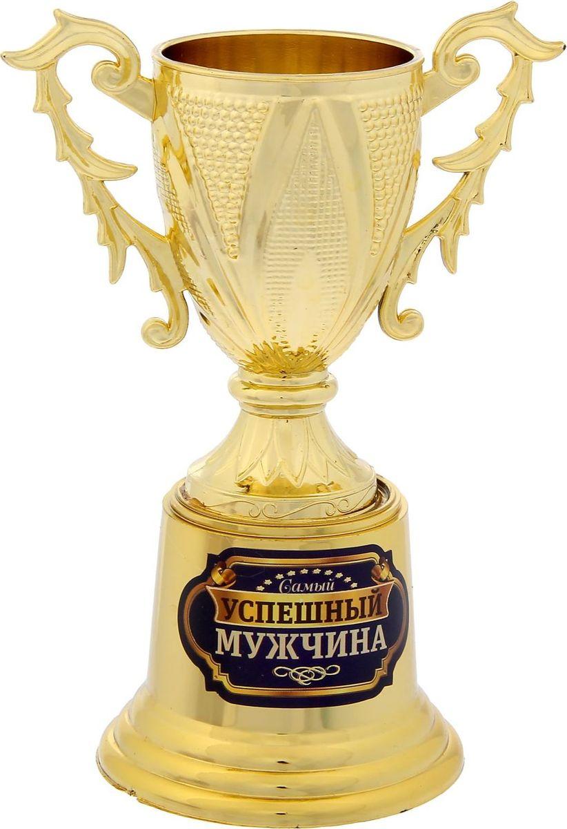 Кубок сувенирный Самый успешный мужчина, цвет: золотой. 12370351237035Оригинальная награда для особенных людей— золотой кубок Самый успешный мужчина в классическом стиле и на подставке. Выполнен из пластика и украшен яркой наклейкой, где указано, за что был вручён сувенир. Кубок упакован в прозрачную подарочную коробочку с ярким дизайном, которая позволяет сразу рассмотреть изделие.