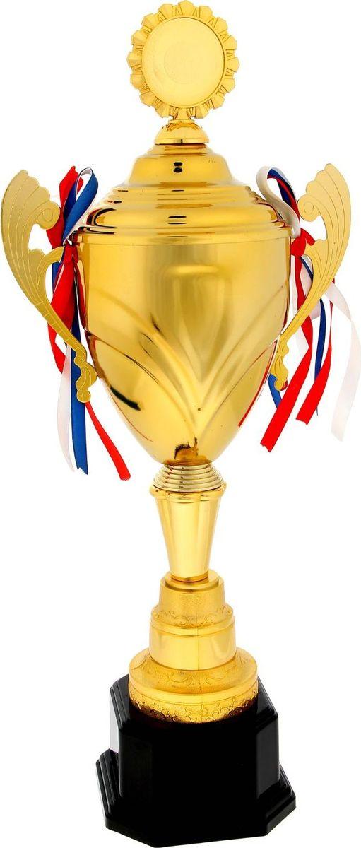 Кубок сувенирный спортивный, цвет: золотистый. 14772441477244Как же приятно, когда твои заслуги ценят и признают! Даже небольшой сувенир порой помогает свернуть горы. Не откладывайте на завтра похвалу близких и дорогих людей: им важно услышать слова поддержки сегодня. Вне зависимости от сферы, будь то спорт, бизнес или творчество, каждая победа — это результат упорного труда. Металлическая чаша золотистого цвета красуется на изящной ножке. На подставке предусмотрено место для шильда с индивидуальной надписью, соответствующей случаю. ХарактеристикиВысота кубка: 54 см.Ширина кубка: 24 см.Диаметр чаши: 14,5 см.Диаметр медали под нанесение: 5 см.Размер подставки: 13 ? 13 ? 7,5 см.Место под шильд на подставке: 6 ? 4,5 см. Кубок упакован в плотную картонную коробку, которая защитит его от повреждений при транспортировке. Награждайте лучших!