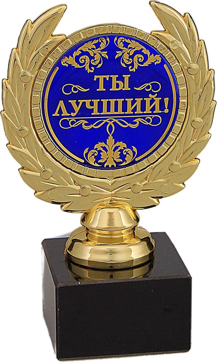 Кубок сувенирный Ты лучший. 492375492375Награда Ты лучший станет прекрасным подарком для друга, родственника или коллеги. Ведь среди наших близких или знакомых обязательно есть достойный человек, заслуживающий звания лучшего. Вручите ему эту награду в знак своего признания и уважения, и увидите, какую массу положительных эмоций она вызовет у будущего владельца. Награда выполнена в виде медали, обрамленной лавровой ветвью, расположена на подставке из камня. Цветная вставка изготовлена из металла с акриловым покрытием, что предотвращает её потускнение.