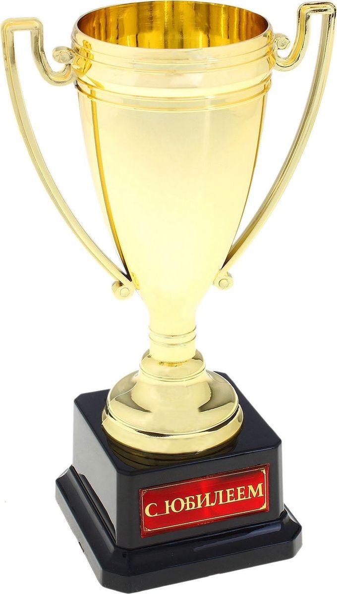 Кубок сувенирный С юбилеем. 669900669900Кубок - эксклюзивный и приятный сувенир, разработанный нами специально для вас. Цветная вставка изготовлена из металла с акриловым покрытием, что предотвращает её потускнение. Кубок дополняет подарочная упаковка, которая придает сувениру презентабельный вид и делает его достойным подарком на день рождения или юбилей.