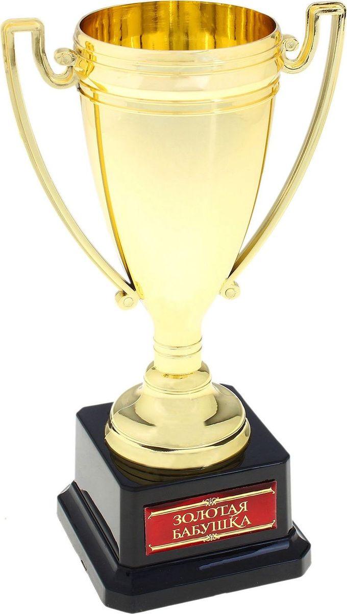 Кубок сувенирный Золотая бабушка. 669910669910Эксклюзивная награда для самых достойных! Станет отличным украшением любого праздника, как официального торжества, там и семейного, и поможет вам создать оригинальную и незабываемую церемонию поздравления. Награда выполнена в форме традиционного чемпионского кубка, поздравительная надпись нанесена на цветную акриловую вставку. В комплекте прилагается фирменная упаковка. Награждайте победителей достойно!