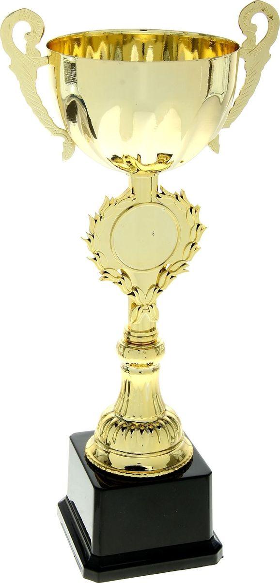 Кубок сувенирный спортивный, цвет: золотистый. 699080699080Спортивные награды – это не просто достойный приз для чемпионов и символ уважения заслуг победителя, но и многовековая традиция. Благородная традиция награждать победителей особыми знаками отличия во время торжественной церемонии зародилась много веков назад: самых достойных венчали знаками особого отличия – лавровыми венками, парадными лентами, медалями и кубками. Кубок чемпиона – отличный повод продолжить эту традицию и наградить победителя достойно. Сувенир изготовлен из пластика и металла, выполнен в классическом стиле спортивной награды. На ножке кубка есть свободная область для нанесения Вашего текста или логотипа, обрамленная лавровыми ветвями. Награждайте победителей достойно!