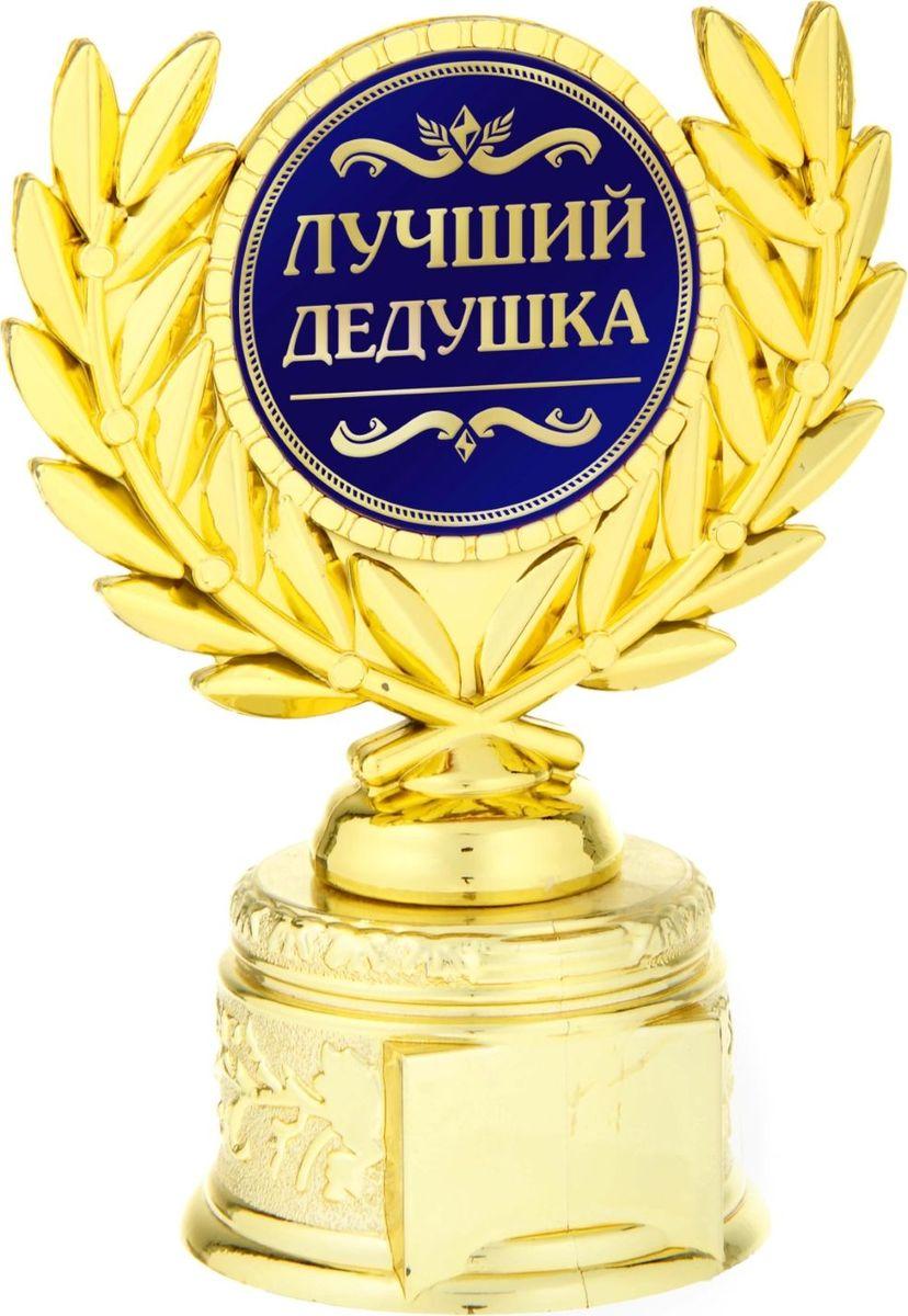 Кубок сувенирный Лучший дедушка. 806988806988Если вы хотите порадовать и удивить близкого вам человека, выберите в качестве подарка награду - как символ побед и достижений. Сюрприз придется по душе вашему близкому другу, родственнику или коллеге. Награда займет достойное место в интерьере и будет радовать будущего владельца каждый день. Награда выполнена в виде медали, обрамленной лавровыми ветвями, расположена на золотой подставке из пластика. Цветная вставка изготовлена из металла с акриловым покрытием, что предотвращает её потускнение.