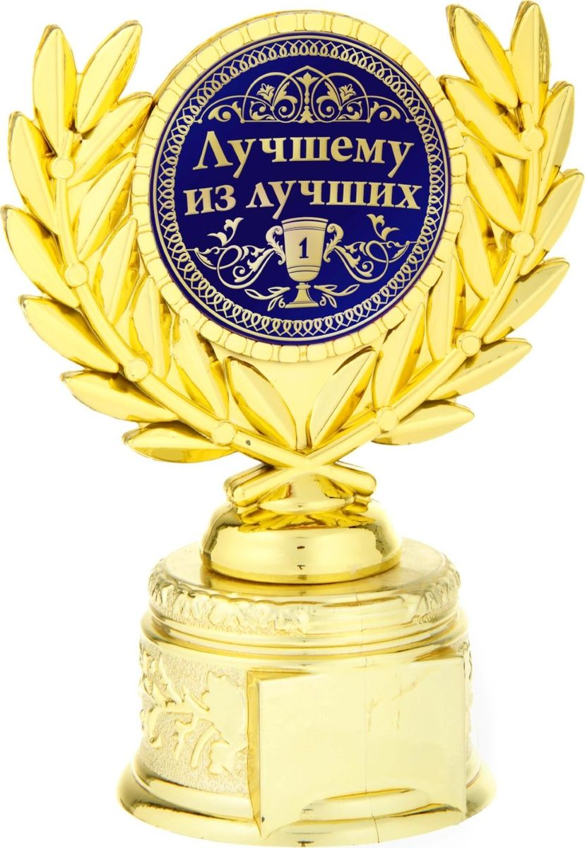 Кубок сувенирный Лучшему из лучших. 807077850356Если вы хотите порадовать и удивить близкого вам человека, выберите в качестве подарканаграду - как символ побед и достижений. Сюрприз придется по душе вашему близкому другу,родственнику или коллеге. Награда займет достойное место в интерьере и будет радоватьбудущего владельца каждый день. Награда выполнена в виде медали, обрамленнойлавровыми ветвями, расположена на золотой подставке из пластика. Цветная вставкаизготовлена из металла с акриловым покрытием, что предотвращает её потускнение.