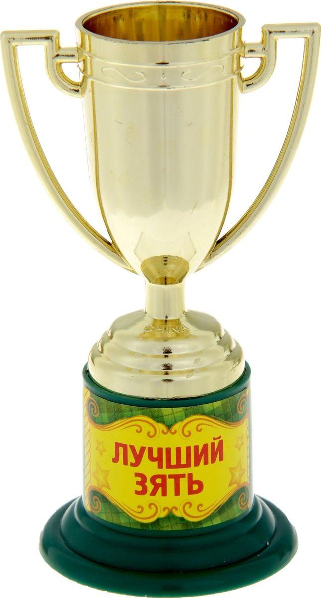 Кубок сувенирный Лучший зять. 843244843244Почему лишь победители спортивных соревнований получают награды? Совершенно не обязательно устраивать никаких состязаний, достаточно иметь желание повеселиться. Сделайте подарок вашим гостям! Устройте незабываемую церемонию награждения, вручите кубок каждому за его замечательность и непохожесть на других, за его неповторимость! Особенно хорошо такая забавная церемония поможет развлечь гостей и поднять настроение. А Кубок Лучший зять золотого цвета на яркой подставке с интересной надписью будет настоящим призом для лучших из лучших. Этот сувенир надолго останется у ваших родных и близких и будет вызывать улыбку, даря прекрасные воспоминания о счастливых мгновениях. Дарите близким радость!