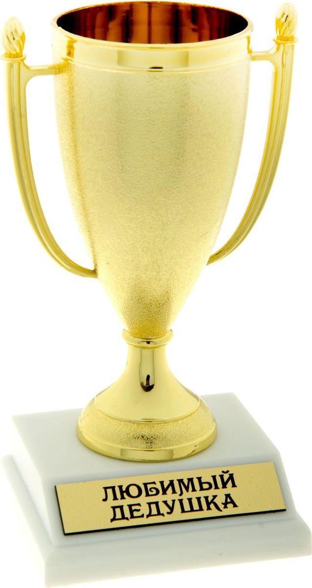 Кубок сувенирный Любимый дедушка. 843523843523Кубок, как символ победы, украсит интерьер дома или займёт почетное место в рабочем кабинете. Награда будет радовать своего будущего владельца долгое время и привлекать внимание гостей. На подставке находится шильдик с номинацией, изготовленный из металла с акриловым покрытием, что предотвращает его потускнение. Статуэтку дополняет красивая подарочная упаковка, которая придает подарку презентабельный вид.