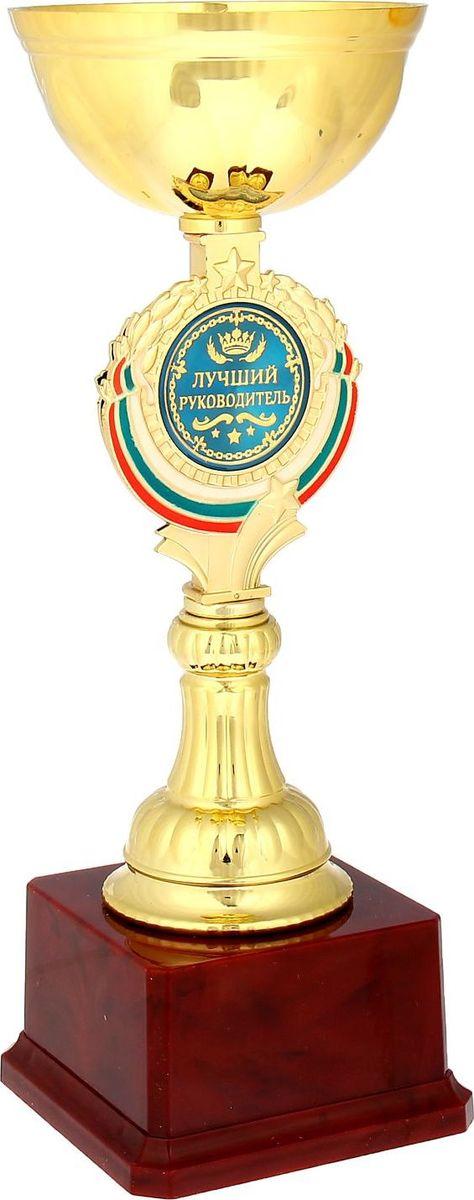 Кубок сувенирный Лучший руководитель. 844040844040Кубок Лучший руководитель станет самой лучшей наградой и подарком, поскольку сочетает в себе качество и интересный дизайн! Уникальный сувенир неповторим по своей форме, второго такого вы не найдёте. Он дополнен цветной бляшкой, изготовленной из металла, с наименованием номинации, за которую вручается. Упаковка для кубка из гофрокартона надёжно защищает его от повреждения при транспортировке и служит отличным вариантом подарочной упаковки. На обороте коробки получатель найдёт добрые слова и тёплые пожелания.