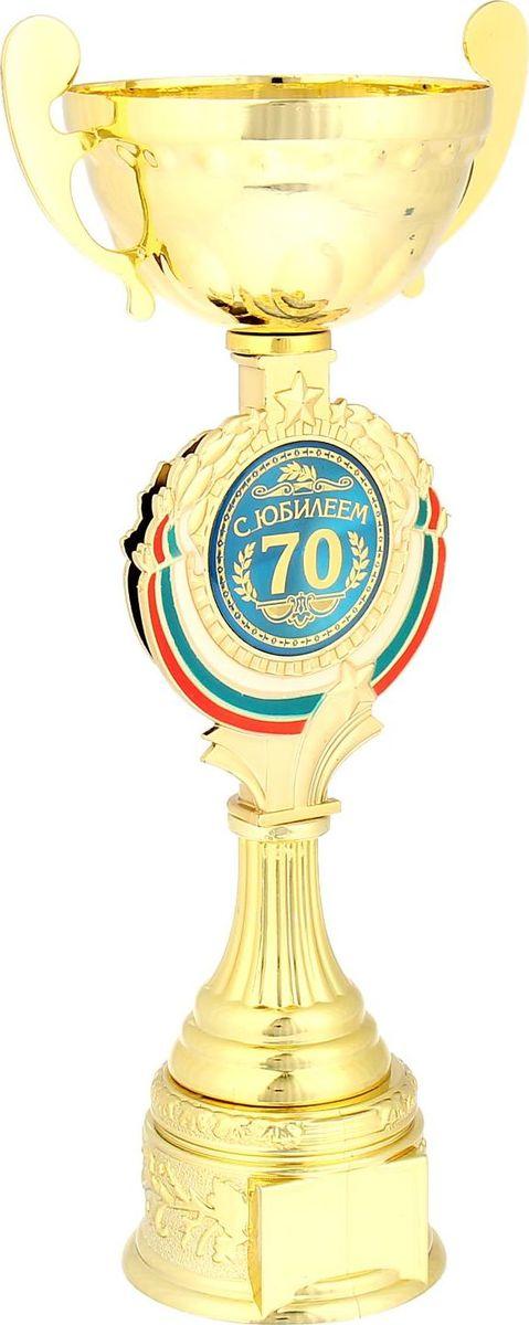 Кубок сувенирный С Юбилеем 70. 844049844049Кубок С Юбилеем 70 станет самой лучшей наградой и подарком, поскольку сочетает в себе качество и интересный дизайн! Уникальный сувенир неповторим по своей форме, второго такого вы не найдёте. Он дополнен цветной бляшкой, изготовленной из металла, с наименованием номинации, за которую вручается. Упаковка для кубка из гофрокартона надёжно защищает его от повреждения при транспортировке и служит отличным вариантом подарочной упаковки. На обороте коробки получатель найдёт добрые слова и тёплые пожелания.
