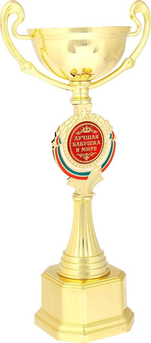 Кубок сувенирный Лучшая бабушка в мире. 844051844051Кубок Лучшая бабушка в мире станет самой лучшей наградой и подарком, поскольку сочетает в себе качество и интересный дизайн! Уникальный сувенир неповторим по своей форме, второго такого вы не найдёте. Он дополнен цветной бляшкой, изготовленной из металла, с наименованием номинации, за которую вручается. Упаковка для кубка из гофрокартона надёжно защищает его от повреждения при транспортировке и служит отличным вариантом подарочной упаковки. На обороте коробки получатель найдёт добрые слова и тёплые пожелания.