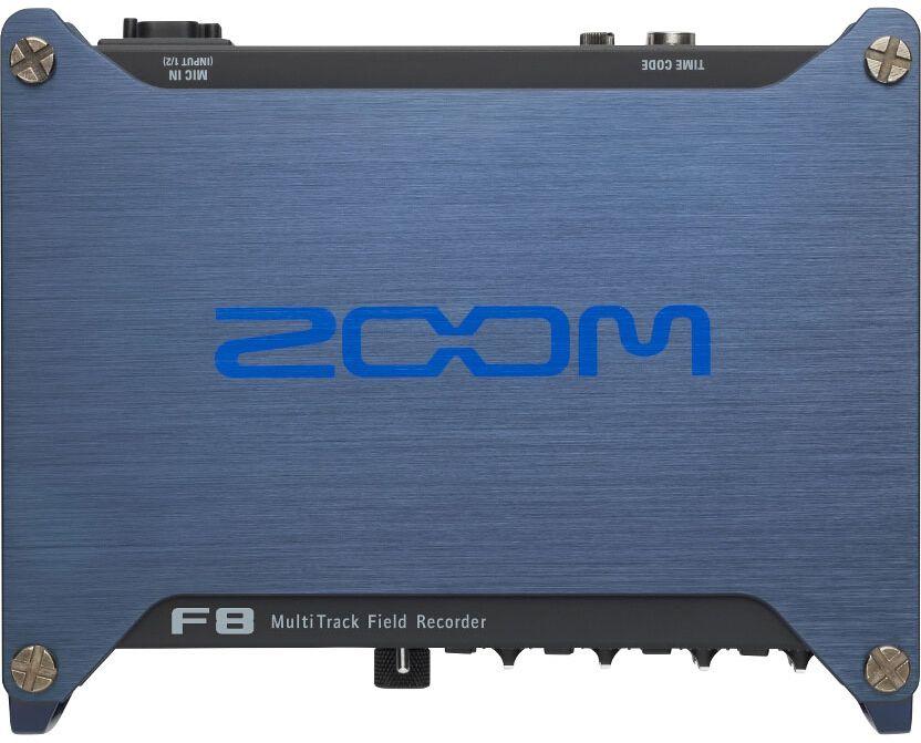 Zoom F8, Black диктофонF8Портативный рекордер Zoom F8:Современное решение для кинопроизводства и звукового дизайнаСовременные технологии делают киносъемку все более легкой и доступной всем желающим. Однако до последнего времени рынок доступных профессиональных средств записи звука был неосвоенной территорией. До появления Zoom F8.Профессиональный портативный аудио рекордер Zoom F8 создан специально для серьезных звуковых дизайнеров и кинорежиссеров. Это устройство позволяет записывать аудио в невероятно высоком качестве, благодаря 8-ми входам, 10-трековой записи, преампам с низким шумом и поддержкой аудио с разрешением 24-бит/192 кГц.Микрофонные предусилителиF8 оснащен лучшими на сегодняшний момент предусилителями, которые позволяют обеспечить невероятно низкий порог уровня шума (-127 дБ). Кроме того, в вашем распоряжении высокое усиление до 75 дБ и +4 дБ для линейных входов.Аудио высокого разрешения и продвинутые ограничителиАудио рекордер F8 может записывать аудио разрешением до 24-бит/192 кГц и оснащен встроенными ограничителями для защиты от перегрузки. Ограничение может применяться ко всем восьми каналам одновременно и на максимальном разрешении. Вы также сможете установить предельное значение ограничителя в 10 дБ и отрегулировать такие параметры, как атака (attack), восстановление (release) и порог (threshold).Тайм-код повышенной точностиЦифровые данные о времени записываются рекордером F8 по современной технологии. Для этого используется точный осциллятор, который генерирует адресно-временной код c погрешностью, не превышающей 0.2 миллионной доли. Благодаря этому, вы сможете синхронизировать ваше аудио и видео с математической точностью.F8 поддерживает все стандартные форматы тайм-кода как с пропуском кадров, так и без пропуска. Кроме того, он может синхронизироваться с временным кодом, который предоставляется внешним устройством. Вход и выход представляют собой стандартные BNC-разъемы, что позволяет подключить его практически к любому оборудованию.Рекордер Z