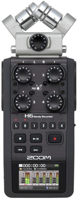 Zoom H6, Black диктофон - MP3-плееры и диктофоны